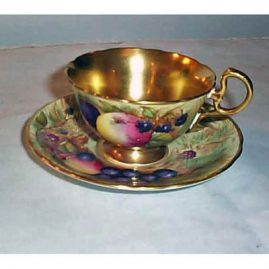 Aynsley cup and saucer with gilt center