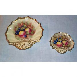 Aynsley serving bowls with fruit painting