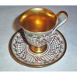 Berlin cabinet cup and saucer, septre mark, Sold