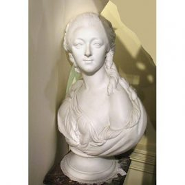 "Bisque bust of Madame Dubaury signed Pajou, attributed to Sevres, 25""tall, 19""wide, Sold"
