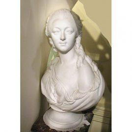 Bisque bust of Madame Dubaury signed Pajou