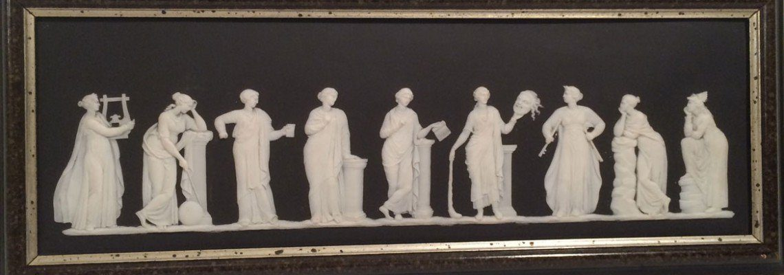 Wedgwood black and white jasperware plaque
