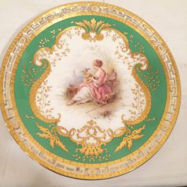 Minton rare reticulated plate artist signed Boullinier made exclusively for Tiffany and Company