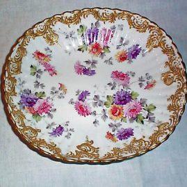 Eugene Claus Paris Pocelain bowl with raised gilding