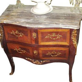 "Marble top 3 drawer cabinet, ca-1920s-1930s, $2400.00, 35"" wide, 30"" tall, 17"" deep"