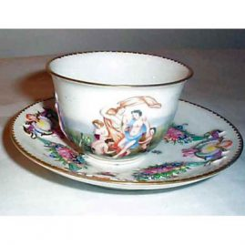 Other side of Capodimonte cup and saucer, Sold
