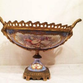 Back of Sevres centerpiece from previous picture, 19 inches by 11 1/2 inches. ca-1846. Price on Request.