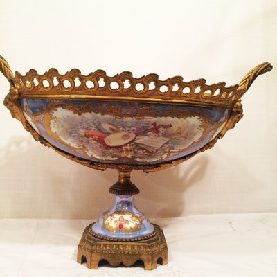 Back of the rare Sevres centerpiece