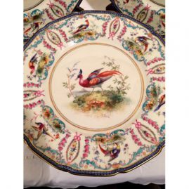 Close up of Royal Doulton bird plates
