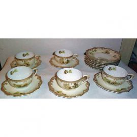 5 Old Ivory Silesia cups and saucers, sold