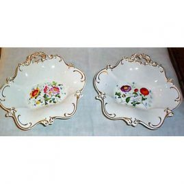 "Pair of Davenport serving bowls, 10"" by 9 1/2"", before 1890, Sold"