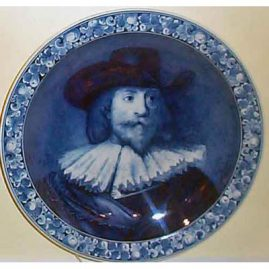 Royal Delft charger after Rembrandt, 15 inches, Joost, Thoolft & Labouchere, 1890-1913, Sold