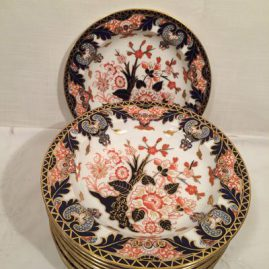 Set of twelve Royal Crown Derby Imari wide rim soups