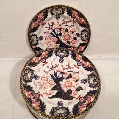 Set of Royal Crown Derby luncheon or dessert plates