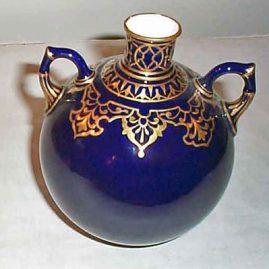 Royal Crown Derby cobalt vase