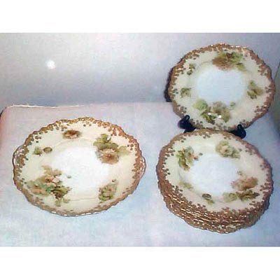 Old Ivory Silesia dessert set