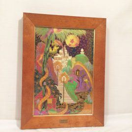 Wedgwood fairy land luster limited edition plaque, Framed, size is 14 1/4 inches by 11 3/4 inches, Unframed- 7 1/2 inches by 11 1/4 inches. Price on Request
