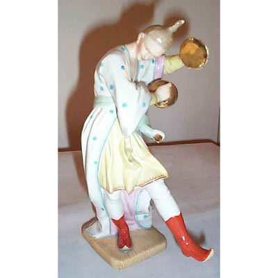 Rare Holst figurine, 1840s-1850s, 8 inches