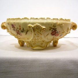 Royal Worcester fluted bowl, ca-1894, 12 inch diameter, $895.00