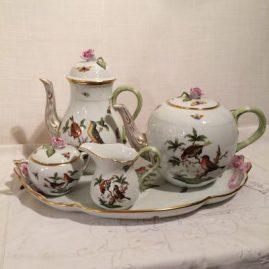 Herend Rothschild bird tea set