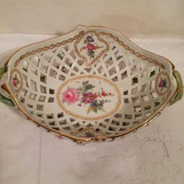 This shows the inside of on of the KPM reticulated baskets, each one painted differently. Price on Request