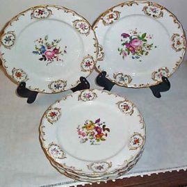 5 Jacob Petit plates, Paris Porcelain, 9 1/4 inches, $140.00 each
