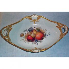KPM fruit bowl, 15 inches long, ca-1912, Sold