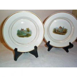 1830s KPM scenic plates, very rare