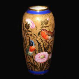 Limoges rare double dore bird vase