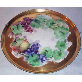 Limoges grape plaque