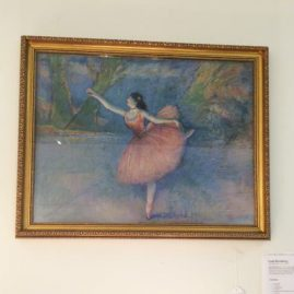 Pastel painting of ballerina artist signed Louis Kronberg