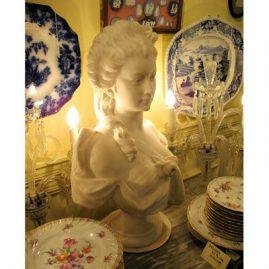 Marble bust of Princess de Lambelle signed Verona