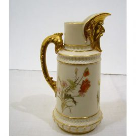 Rare Royal Worcester pitcher with masked spout, ca-1890, 8 inches tall, Sold