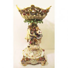 Fabulous Meissen centerpiece on pedestal, ca-1860s-1870s, Sold