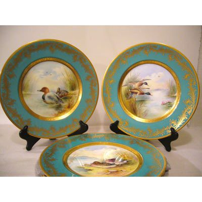 Six fabulous Minton artist signed bird plates signed Holland, each painted differently