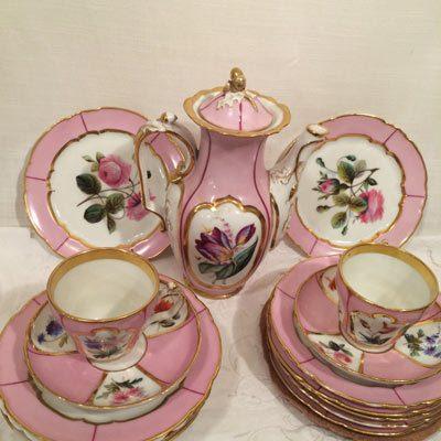 Fabulous pink Paris porcelain tea set