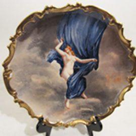 Limoges porcelain plaque artist signed Dubois