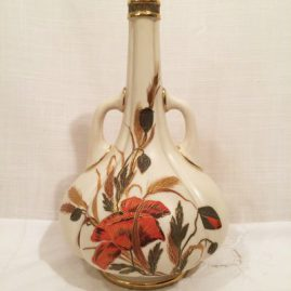 Royal Worcester poppy vase, late 19th century, other side has poppy, 9 3/4 inches, $850.00