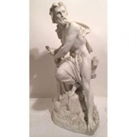 Minton parian figure of Prometheus, Circa-1861, 17 inches tall by 8 1/2 inches wide. He was trusted with the task of molding mankind out of clay. Sold