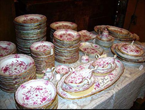We have an extensive set of Meissen purple Indian china including a vast assortment of serving pieces. Prices on Request.