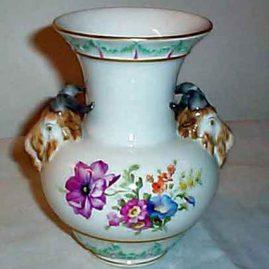 KPM rams head vase