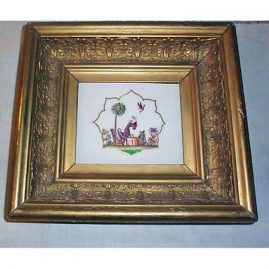Meissen rare plaque, size with frame- 11 by 10 inches, 1880s, Sold