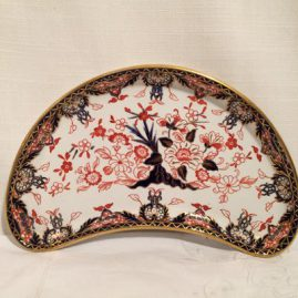 Large Royal Crown Derby Imari crescent dishes