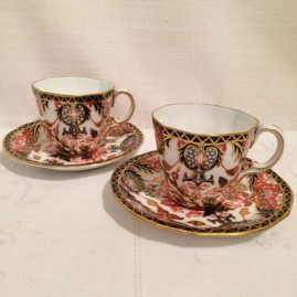 Seven Royal Crown Derby Imari demitasse cups and saucers. Circa-1909. Price on Request