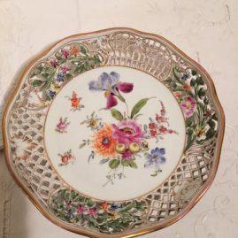 Dresden Richard Klemm reticulated bowl.