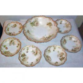 Old Ivory Silesia bowl set