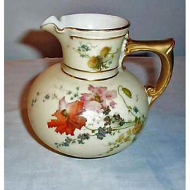 Royal Worcester pitcher, 5 inches tall, sold, ca-1894