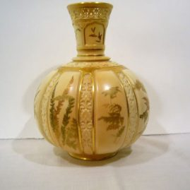 "Large Royal Worcester vase with reticulated top, ca-1889, 12 1/4"" by 11"", $1400.00"