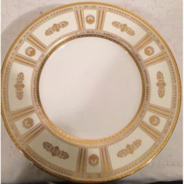 Set of twelve Minton made exclusively for Tiffany and Company service plates. Size-10 5/8 inches. Sold.