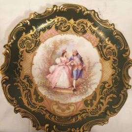 Sevres plaque or charger with scene of lovers